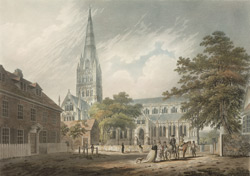 View of the cathedral of Salisbury